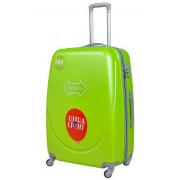 Чемодан Travel Quotes Emoji Lime M