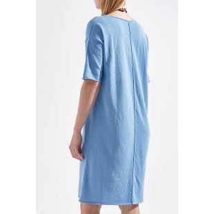 Платье хлопковое миди рукав 3/4 STEFANEL Y066VDF1295.724
