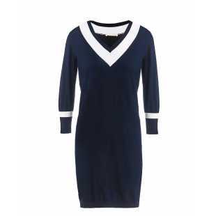 Платье хлопковое миди рукав 3/4 STEFANEL Y023VDF1295.2890
