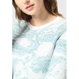 Жаккардовый свитер с круглым вырезом STEFANEL RL058DF1338.2202
