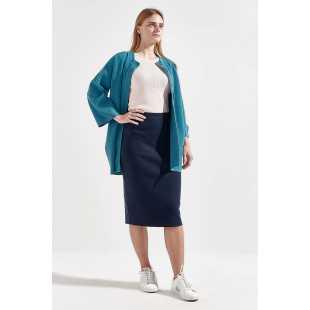 трикотажное женское пальто с воротником-стойкой STEFANEL Y003QDF1275.672