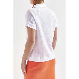 Блуза женская с короткими рукавами STEFANEL Y016CD69616.50